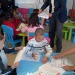 Atelier enfants dans le cadre du PRU à Méru animé par Kamel Bentahar
